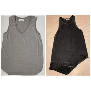 Bundle of Feel the Piece Gray Tank Tops